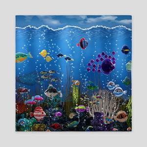 Underwater Love Queen Duvet