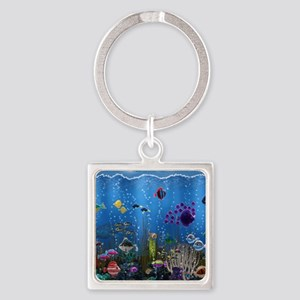 Underwater Love Square Keychain