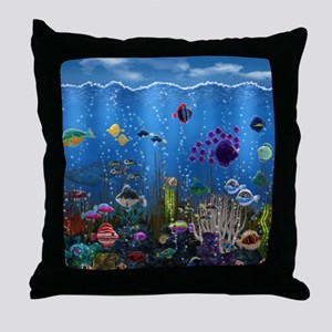 Underwater Love Throw Pillow