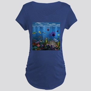 Underwater Love Maternity Dark T-Shirt