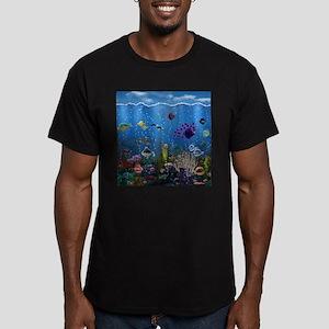 Underwater Love Men's Fitted T-Shirt (dark)