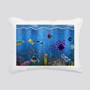Underwater Love Rectangular Canvas Pillow