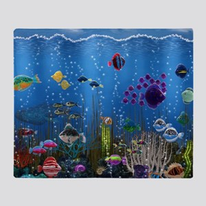 Underwater Love Throw Blanket