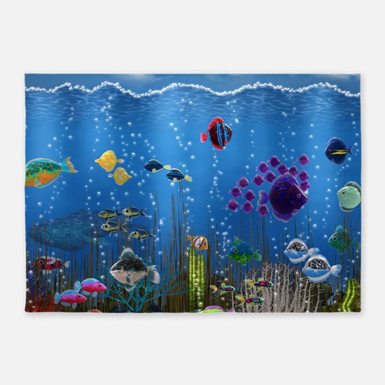 Underwater Love 5'x7'Area Rug