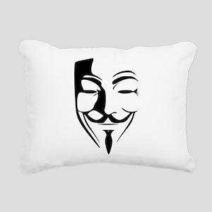 Guy Fawkes Rectangular Canvas Pillow