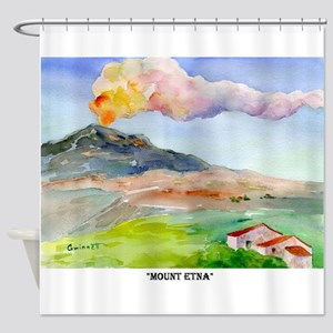 Sicilian Mt. Etna Shower Curtain