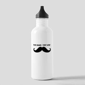 Personalized Mustache Sports Water Bottle
