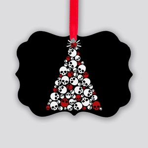 Gothic Skull Christmas Tree Picture Ornament