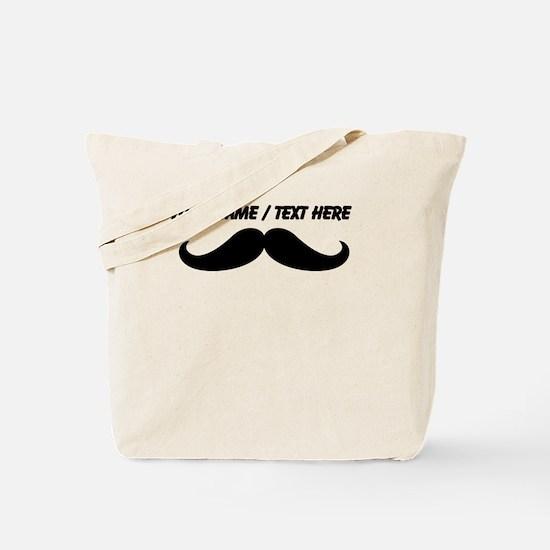 Personalized Mustache Tote Bag
