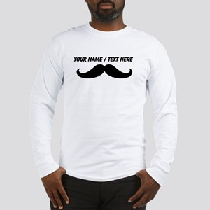 Personalized Mustache Long Sleeve T-Shirt