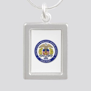Merchant Marine Academy Silver Portrait Necklace