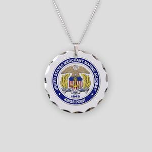 Merchant Marine Academy Necklace Circle Charm