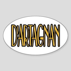 D'Artagnan Sticker (Oval)