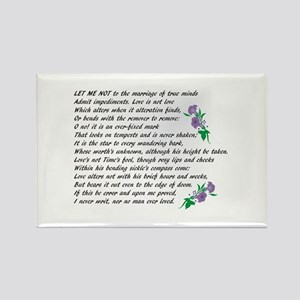 Sonnet 116 Rectangle Magnet