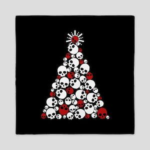 Gothic Skull Christmas Tree Queen Duvet