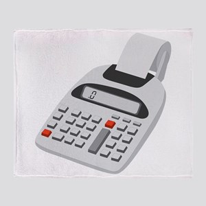 Adding Machine Calculator Throw Blanket