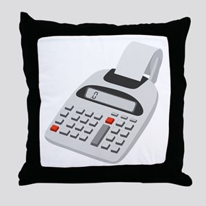 Adding Machine Calculator Throw Pillow