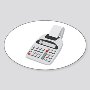 Adding Machine Calculator Sticker (Oval)