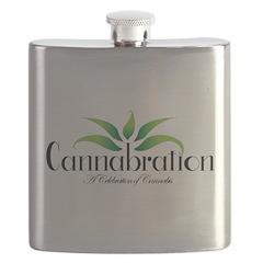 Cannabration Logo Flask