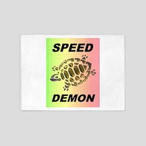 SPEED DEMON 5'x7'Area Rug