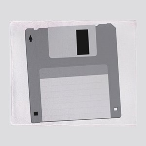 Floppy Disk Diskette Throw Blanket
