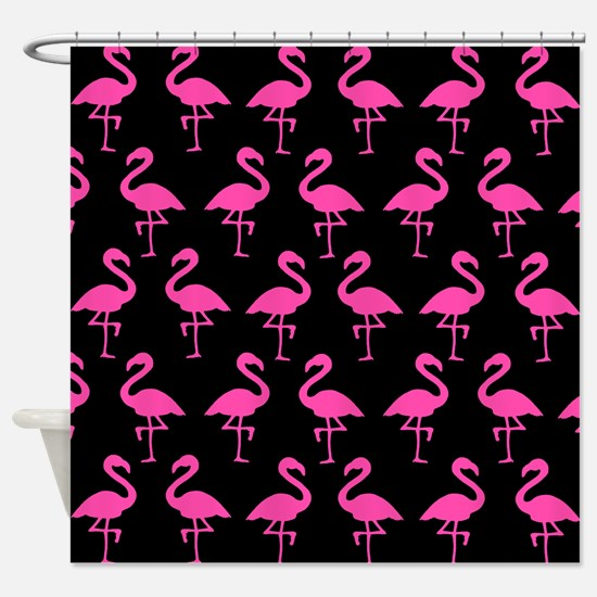 'Flamingos' Shower Curtain