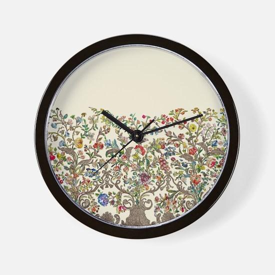 Rococo Court Mantua Wall Clock