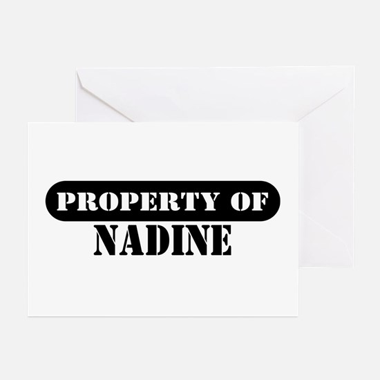 Property of Nadine Greeting Cards (Pk of 10)