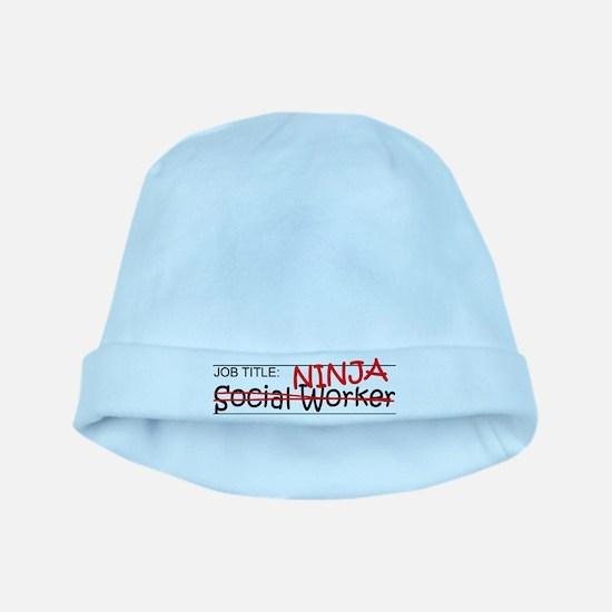 Job Ninja Social Worker baby hat