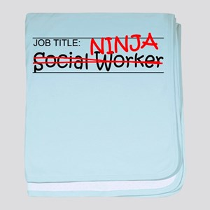 Job Ninja Social Worker baby blanket