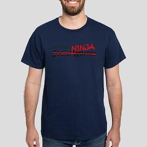 Job Ninja Social Worker Dark T-Shirt
