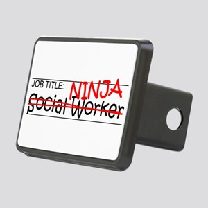 Job Ninja Social Worker Rectangular Hitch Cover