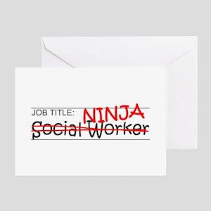Job Ninja Social Worker Greeting Card