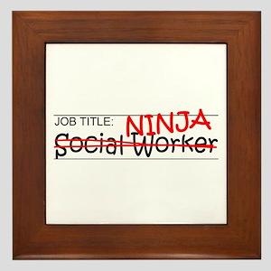 Job Ninja Social Worker Framed Tile