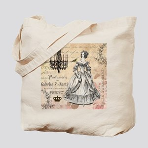 Vintage French shabby chic lady Tote Bag