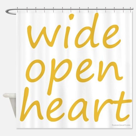wide open heart Shower Curtain