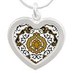 Eleonora di Toledo's dress Silver Heart Necklace