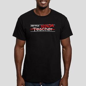 Job Ninja Teacher Men's Fitted T-Shirt (dark)