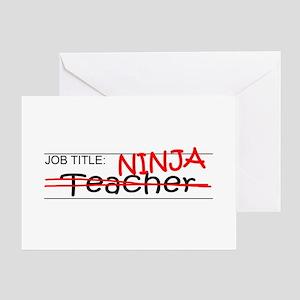 Job Ninja Teacher Greeting Card