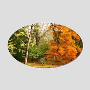 Willow in Autumn colors Wall Decal