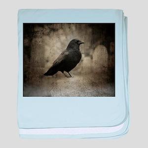 Dark Graveyard Crow baby blanket