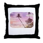 Enjoy little things Throw Pillow
