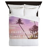 Enjoy little things Queen Duvet