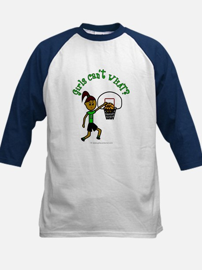 Dark Green Basketball Kids Baseball Jersey