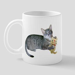 Kitten Stuffed Cat Mug
