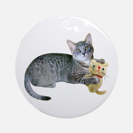 Kitten Stuffed Cat Ornament (Round)