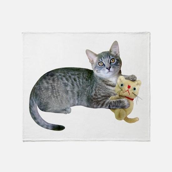 Kitten Stuffed Cat Throw Blanket
