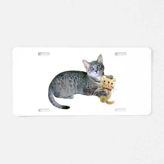 Kitten Stuffed Cat Aluminum License Plate