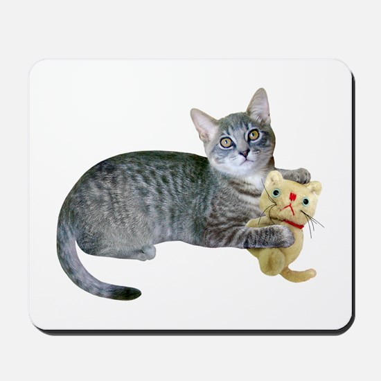 Kitten Stuffed Cat Mousepad
