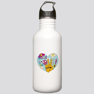 Mod Sixties Make Love Stainless Water Bottle 1.0L